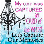 My win- 8/8- - embossing challenge