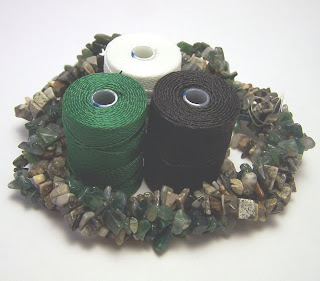 New thread and beads