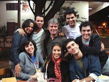 Lu, Robson, Marconi, Leandro, Rafael, Karla, Marcela e Breno