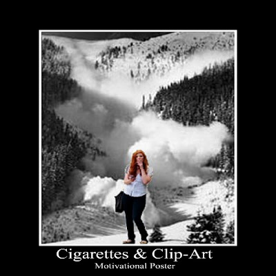 Motivational Clip  on Cigarettes   Clip Art  Cigarettes   Clip Art   Motivational Poster