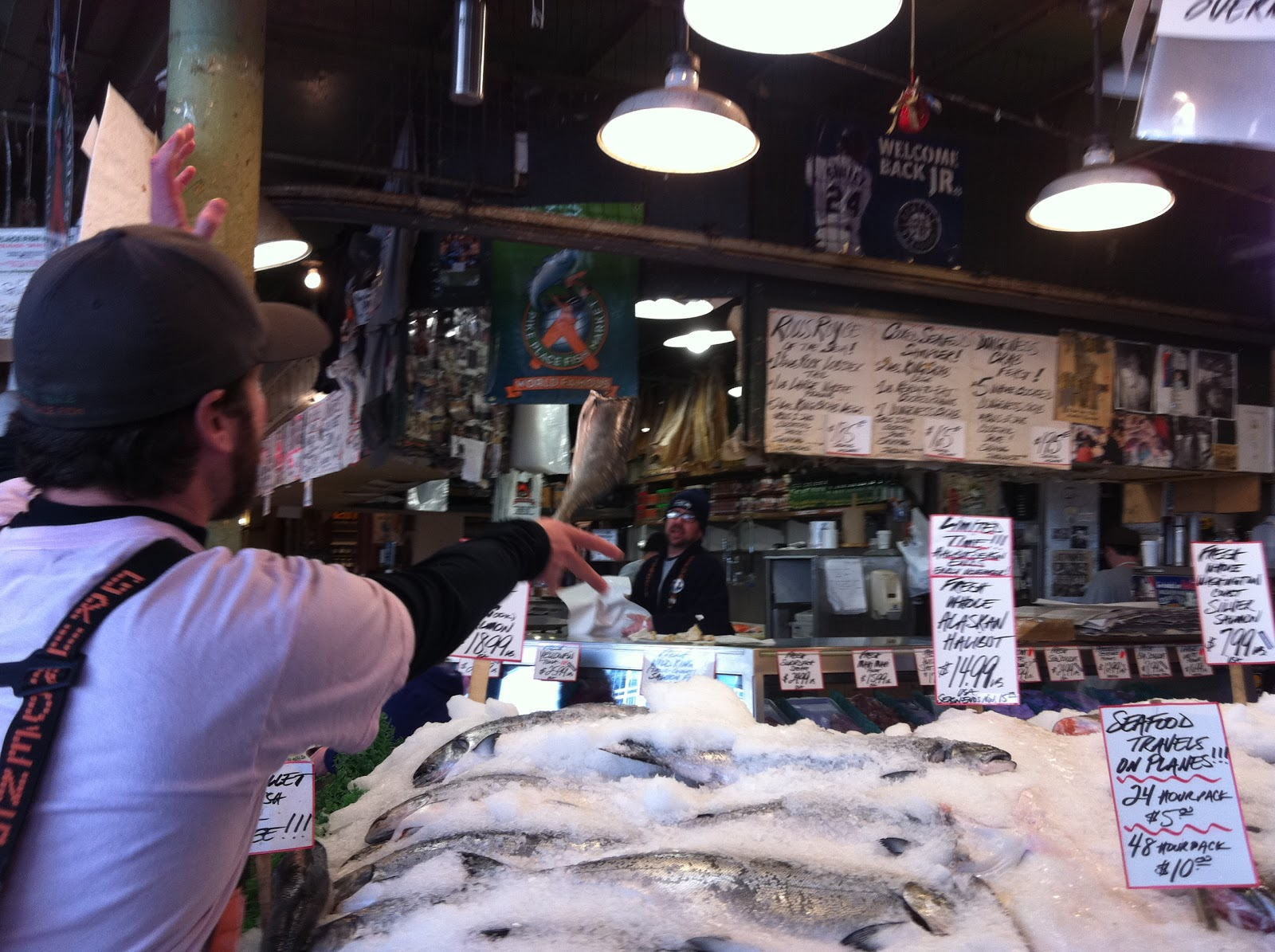 Seeking shama pacific northwest seeing the sunlight for Pike place fish