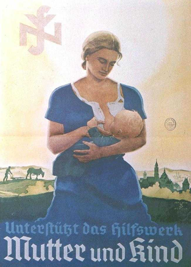 In Nazi Germany the the ideal role for women was to bear healthy    Nazi Women Propaganda