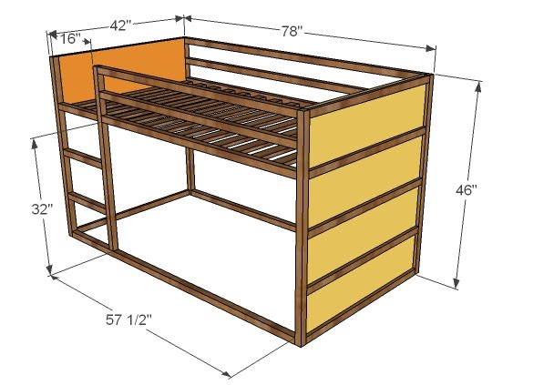 Ana White How To Build A Fort Bed DIY Projects