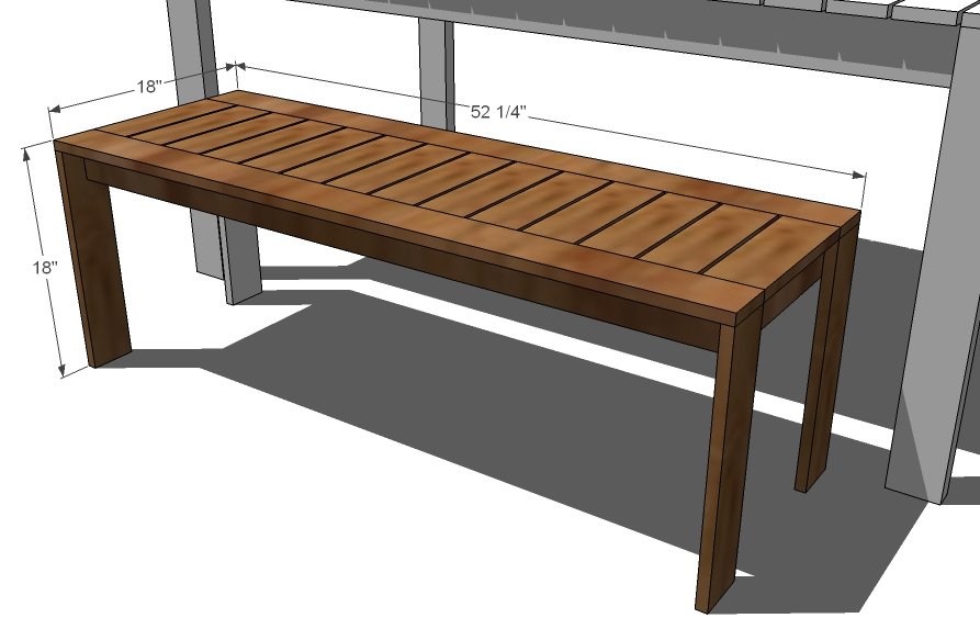 Simple outdoor bench ana white
