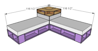 Ana White | Corner Hutch Plans for the Twin Storage Beds - DIY ...