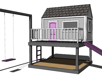 Wooden playhouse plans diy woodproject for Playhouse floor plans