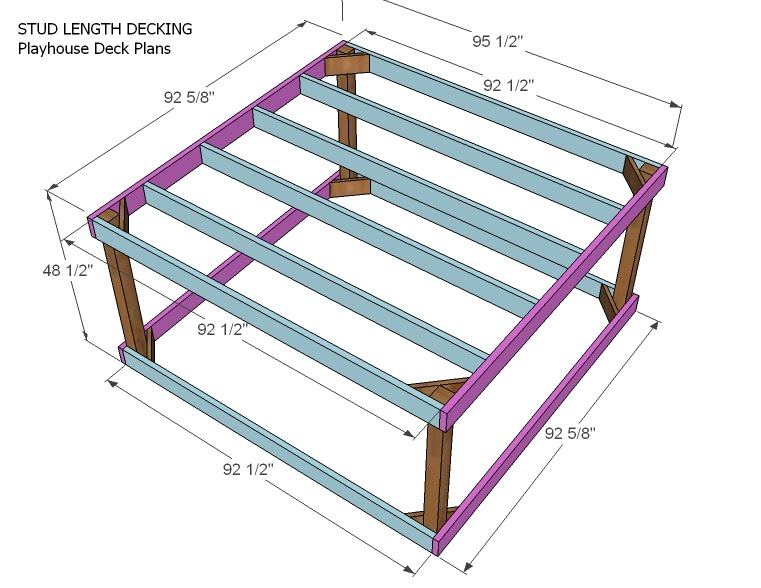 Ana white playhouse deck options diy projects for Easy diy deck plans
