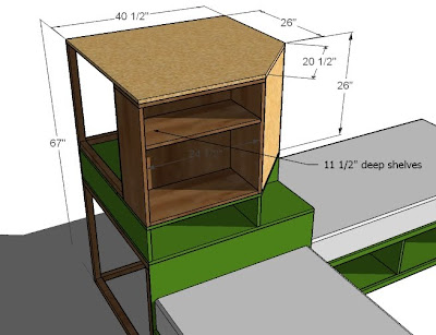 Ana White Corner Unit For The Twin Storage Bed Diy