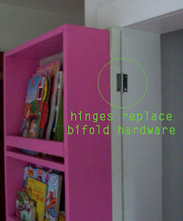 Simply Remove The Bifold Door Hardware And Attach The Bifold Doors With  Standard Hinges As Shown In The Photo