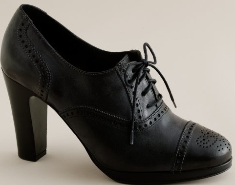 High Heel Oxfords. platform high-heel oxfords