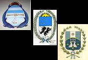 Tres escudos propuestos para las Islas Malvinas