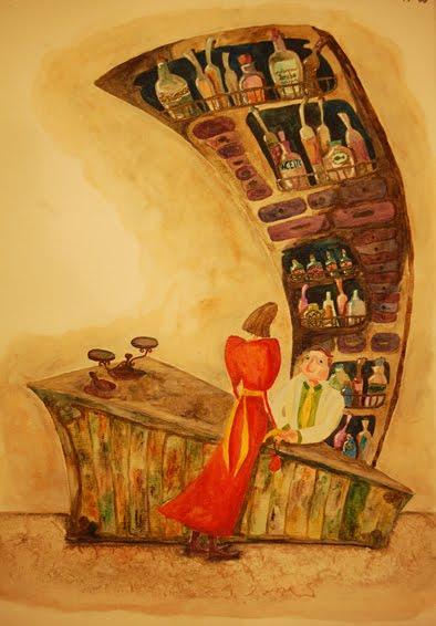 Ilustración en acuarela de Paula Montalbán