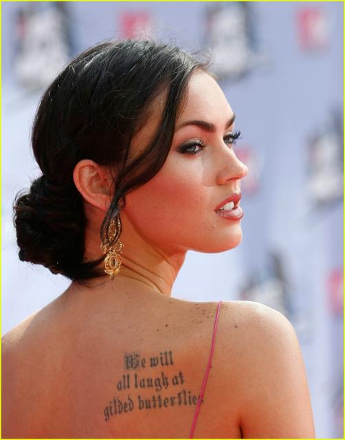 Megan Fox Celebrity Tattoo