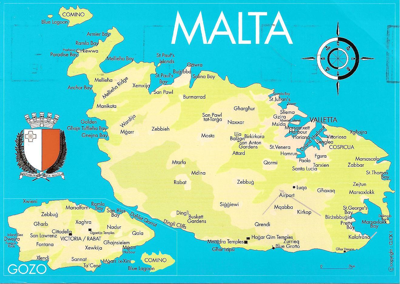 Postcards to montenegro malta