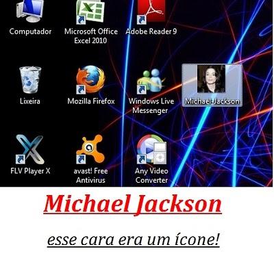 Michael Jackson esse cara era um ícone!