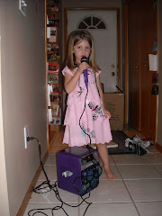 Hannah Montana dress and Karoke machine!