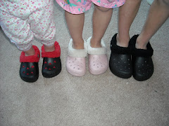 They all love their CROCS from Grandma and Papa Ward
