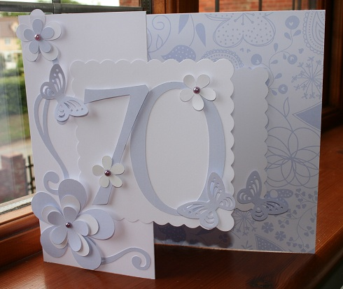 SparklygirlTina 70th birthday card 2nd posting today – Handmade 70th Birthday Cards