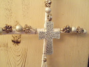 Silver and White Cross