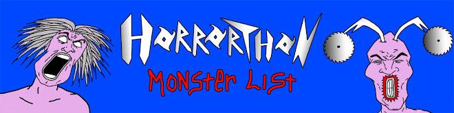Horrorthon Monster List