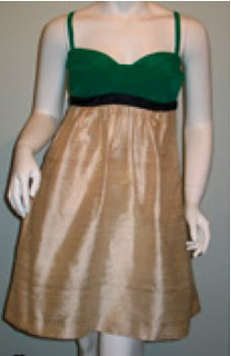 Cooper by Courtney at Anastasia's Boutique: September 2010 :  horizontal pleats green womens sweetheart neckline