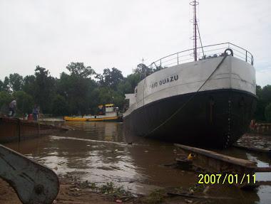 Responsable, cordinador de la reparacion del buque arenero RIO GUAZÚ.