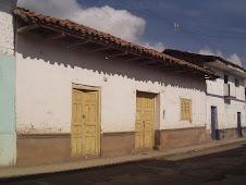 Su casa natal en Chiquián.