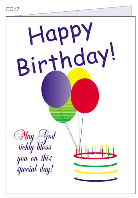 Happy Birthday Card Vector Graphic.