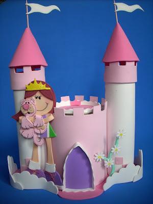 Castelo De E V A Rosa Para Decoracao De Festa Infantil