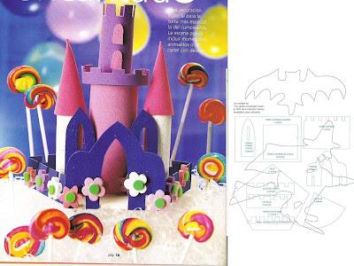 Castelo   Molde_decoracao De Mesa_centro De Mesa_princesa_festa_rolo