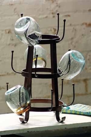 Farmhouse Musings The Rustic Glass Dryer Rack Is Back