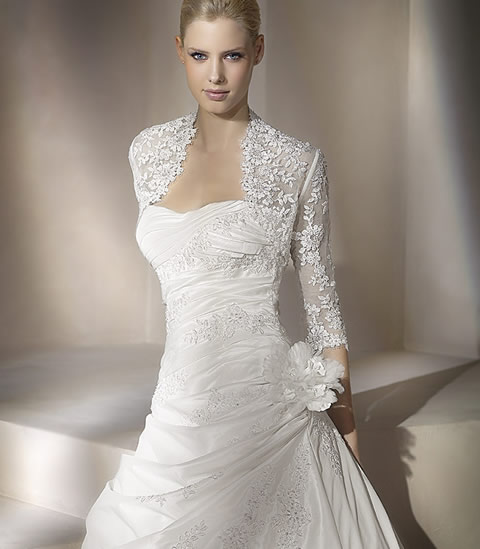 designer Silk Wedding Dress
