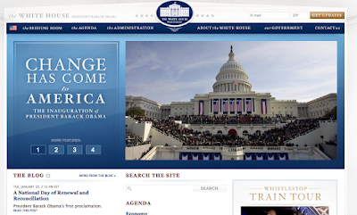 Screenshot of new www.whitehouse.gov
