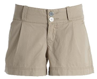 Khaki women's walking shorts.