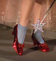 The Ruby Slippers and Dorothy from Wizard of Oz