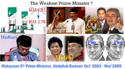 Badawi Weakest PM ever