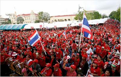 Thailand red shirt protestors