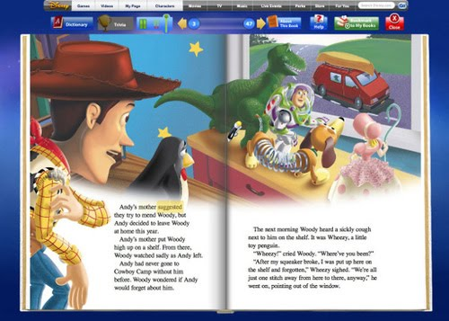 Below Is An Image Of One The Toy Story Books Available On Site Disney Digital