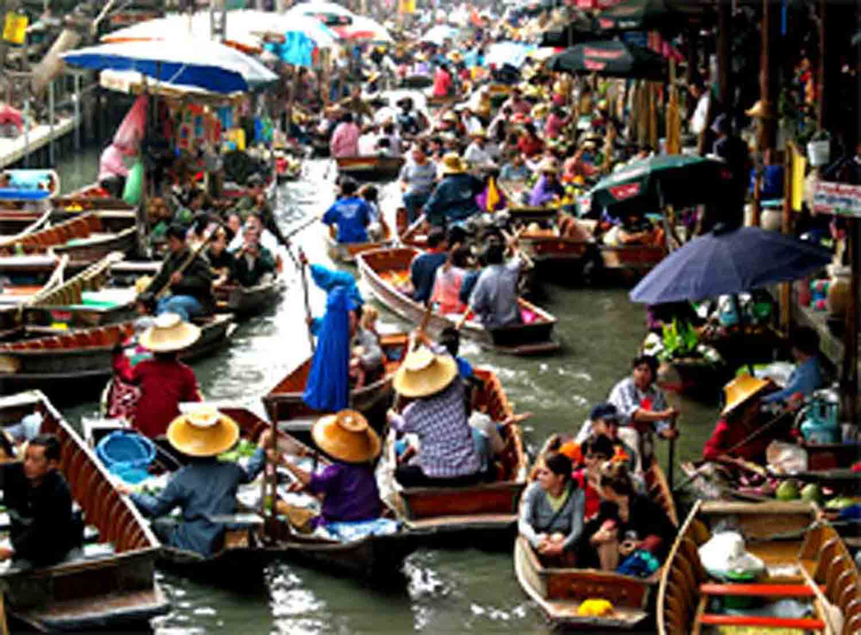world traveling: DAMNOEN SADUAK FLOATING MARKET