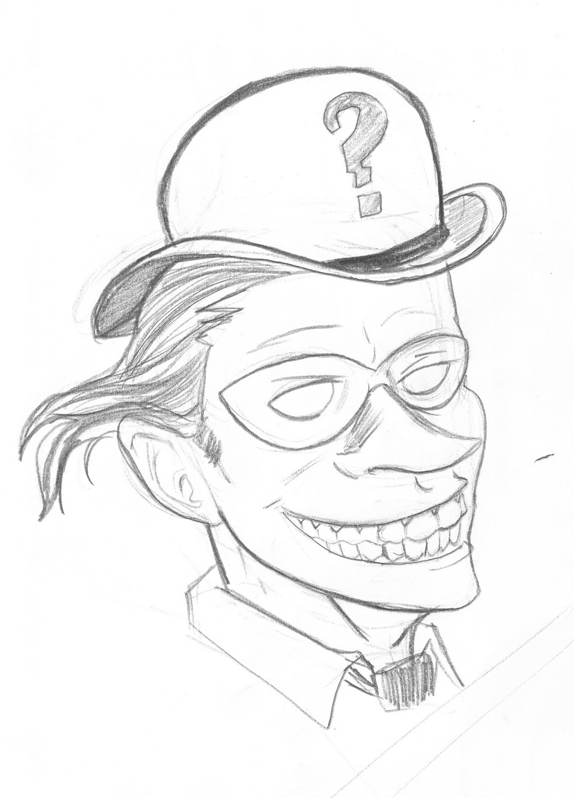 the riddler coloring pages - photo#34