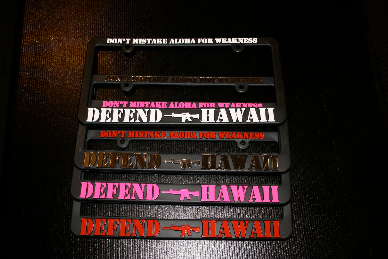 NEW* DEFEND HAWAII ALOHA MADE TEES & LICENSE PLATE FRAMES | ONE ...