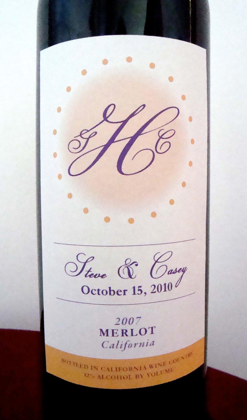 Wedding Wine Bottle Label Template Labels: packaging, wedding