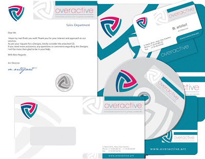 papel membretado, tarjetas de presentación, cds, sobres
