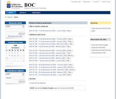 Nueva imagen del Boletín Oficial de Canarias