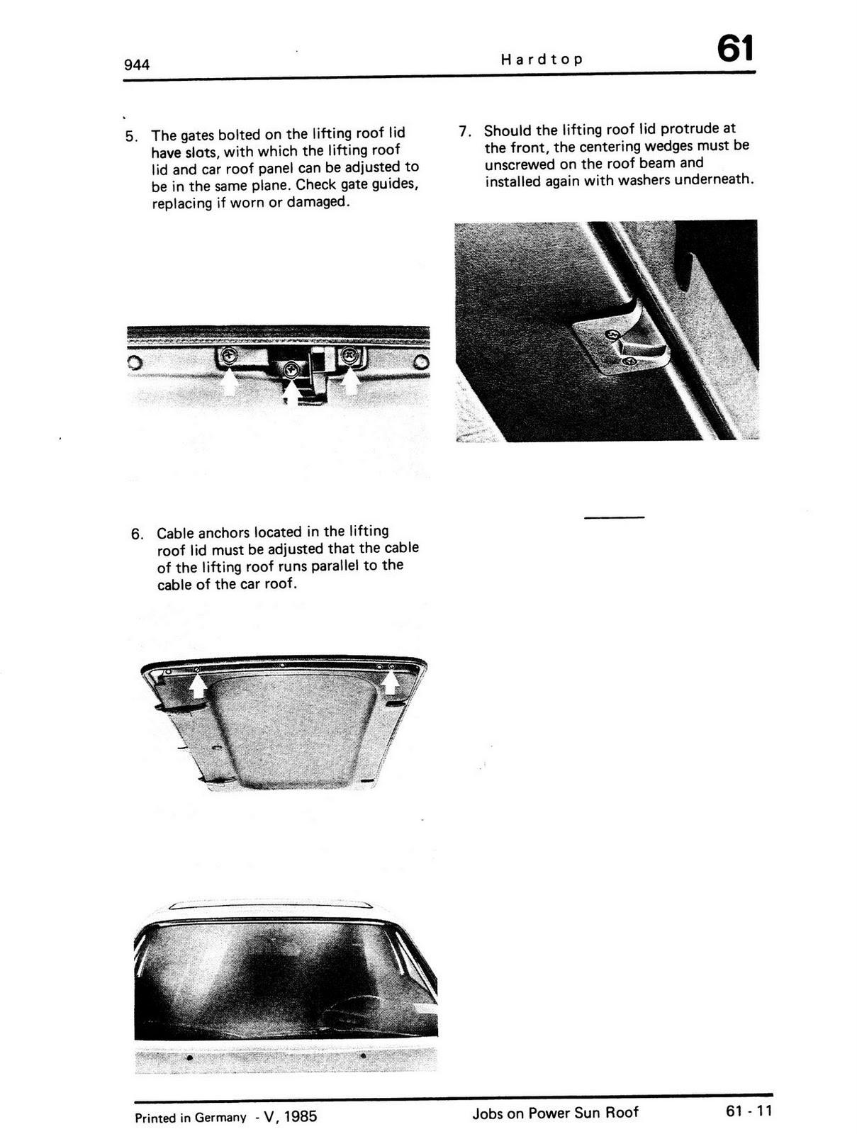 [SCHEMATICS_48ZD]  944 Foot To The Floor: How to repair sunroof on a Porsche 944 (Square Dash  model)   1984 Porsche 944 Sunroof Wiring Diagram      944 Foot To The Floor - blogger