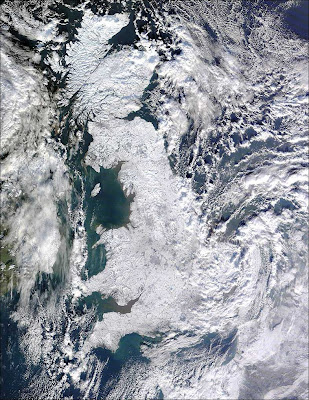 England from Space: It's completely Frozen!