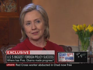 HRC Secretary of State interview State of the Union Candy Crowley CNN