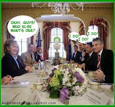 Hill Force One Chia Hillary cartoon