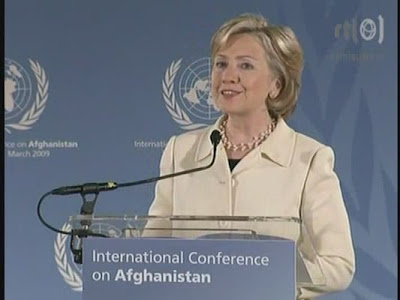 HRC Secretary of State press conference Afghanistan The Hague Netherlands