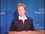 HRC speech CFR NY 2003 video foreign relations Iraq Afghanistan North Korea